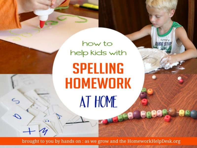 Learn how to help your kids with kindergarten homework - with lots of fun games and other ways to  practice spelling words too