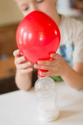 Gotta try blowing up a balloon with baking soda and vinegar - kids will love this.