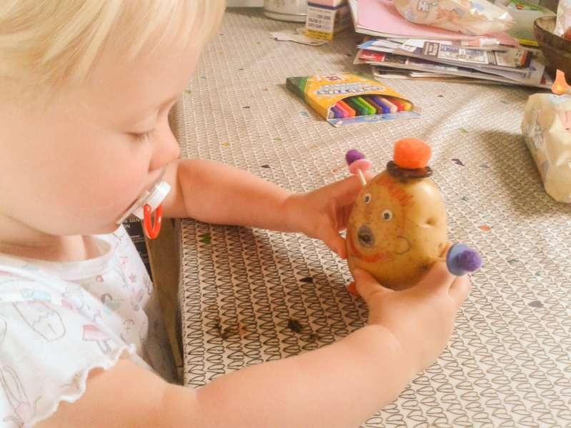 Make a homemade potato man to help increase child's vocabulary