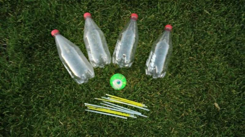 Supplies Needed for Glowing Bowling Activity for Kids