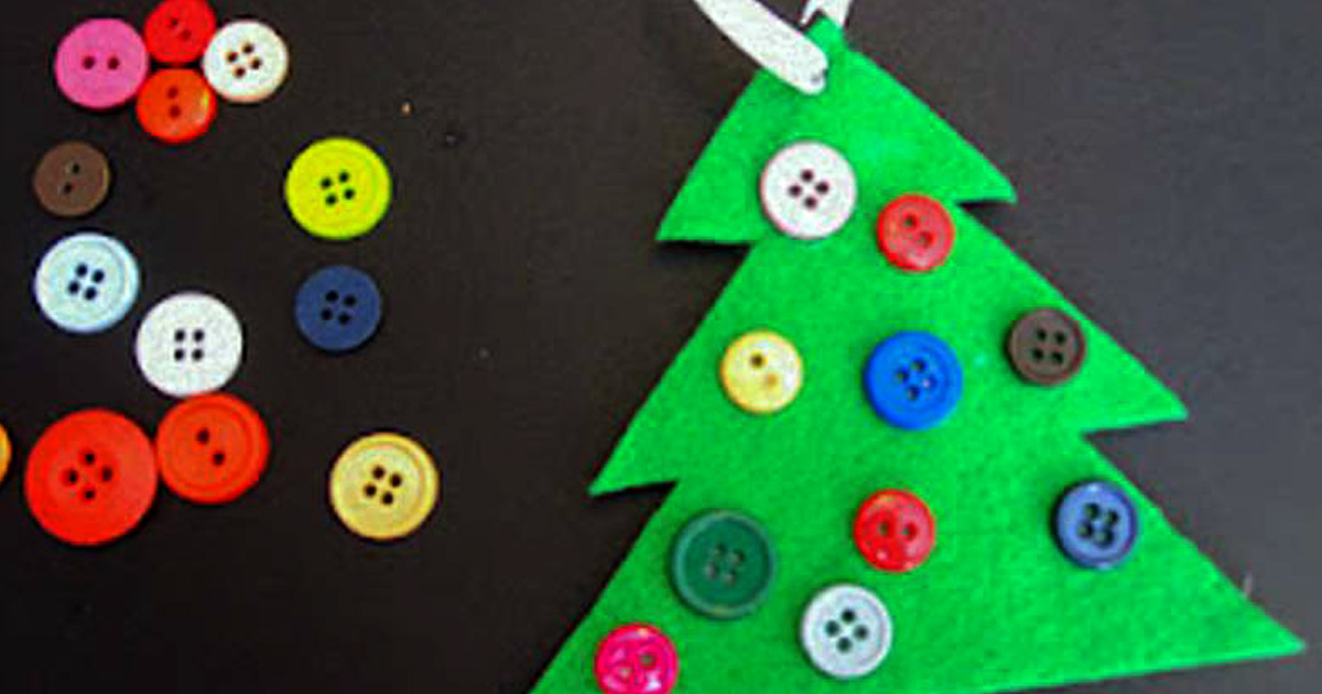 Cute Diy Button Christmas Tree Ornament Hands On As We Grow