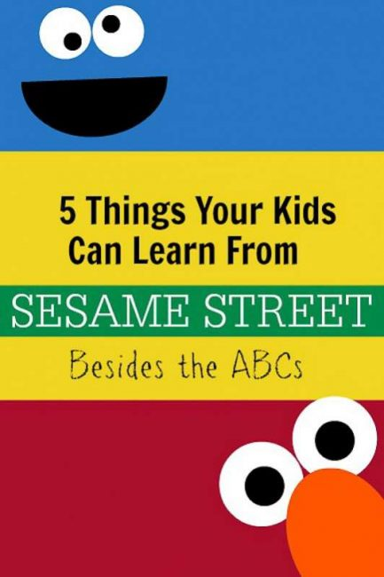 The things your child learns from just watching Sesame Street (and it goes way beyond the ABCs!)