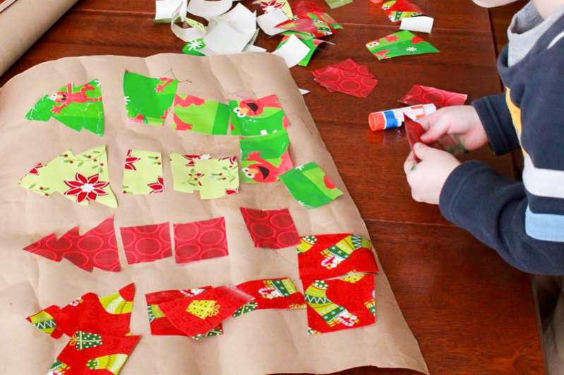 Keep the wrapping paper to do one of these fun holiday activities at Grandma's!