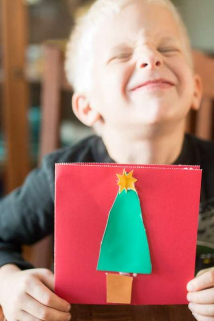 Simple Christmas tree cards - without decorating