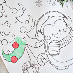 Free Winter Coloring Pages Skate With Friends For Kids Book To ... | 250x250