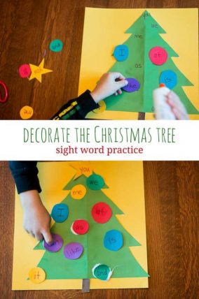 Decorate the Christmas tree - and learn sight words!