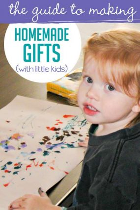 The guide to making homemade gifts with little kids a success