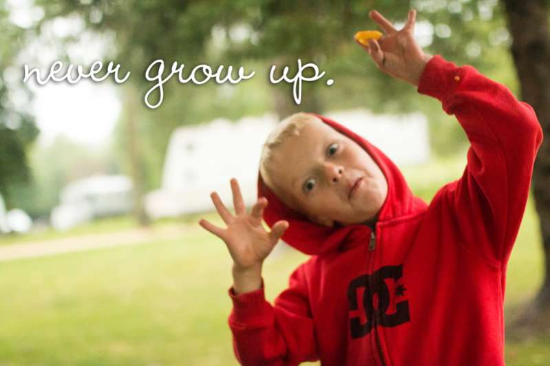 Let kids be kids and never grow up, just like Peter Pan