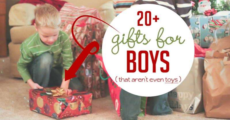 Some great non-toy gifts for boys this year!