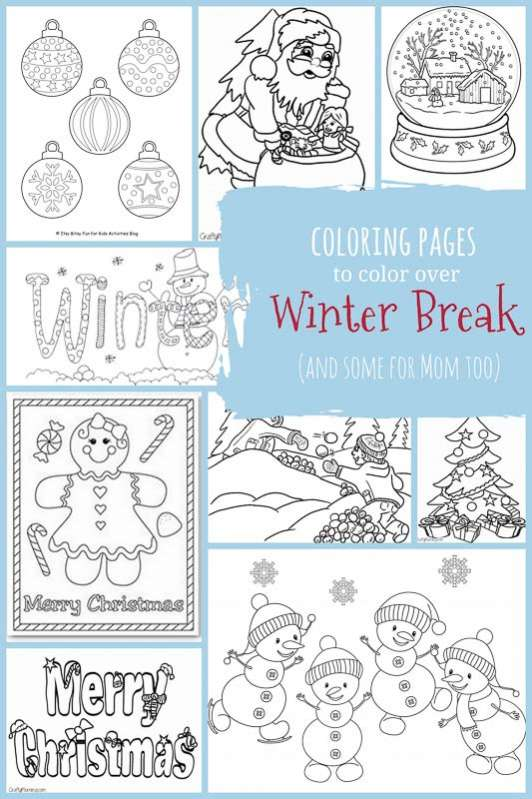Print your own winter coloring pages for kids and adults!