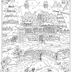 Christmas & Winter Coloring Pages for Kids to Color