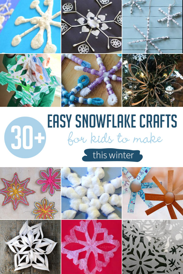 30 Easy Snowflake Crafts For Kids To Make Hands On As We Grow