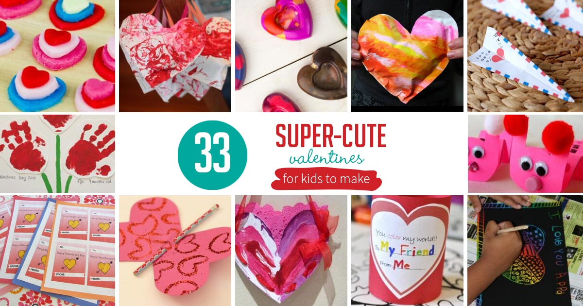 30 Super Cute Kids Valentine S Day Cards For School Hands On As We Grow