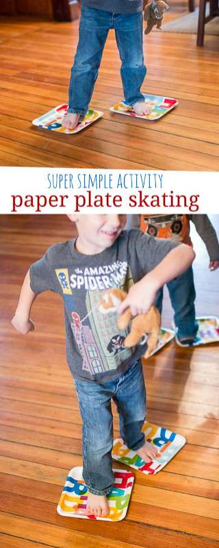 What a great way to turn around a day! Paper plate skating!