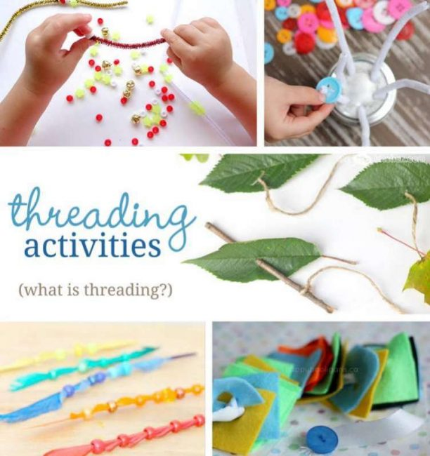 What is threading? Plus lots of threading activities to do with the kids