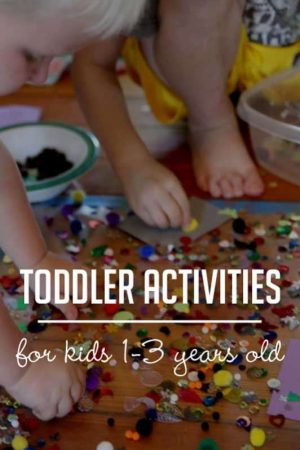 You'll find lots of fun toddler activities here from gross motor and physical activities to fine motor activities to sensory activities, and even some learning activities! You'll never have to wonder how to occupy your 2 year old again!