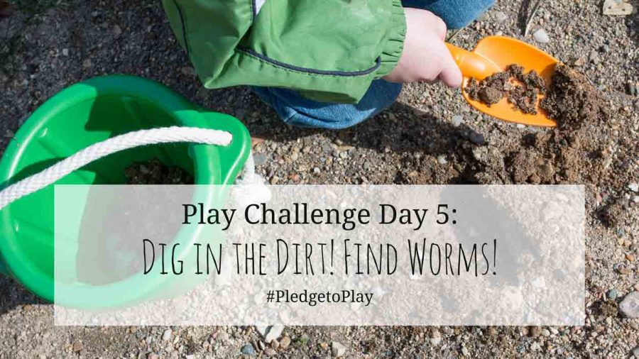 Day 5 Play Activity: Dig in the Dirt! Pledge to play for an hour every day for 30 days?