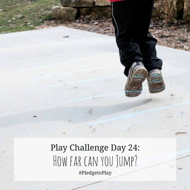 Day 24 Play Activity: Jump along the lines! Pledge to play for an hour every day for 30 days