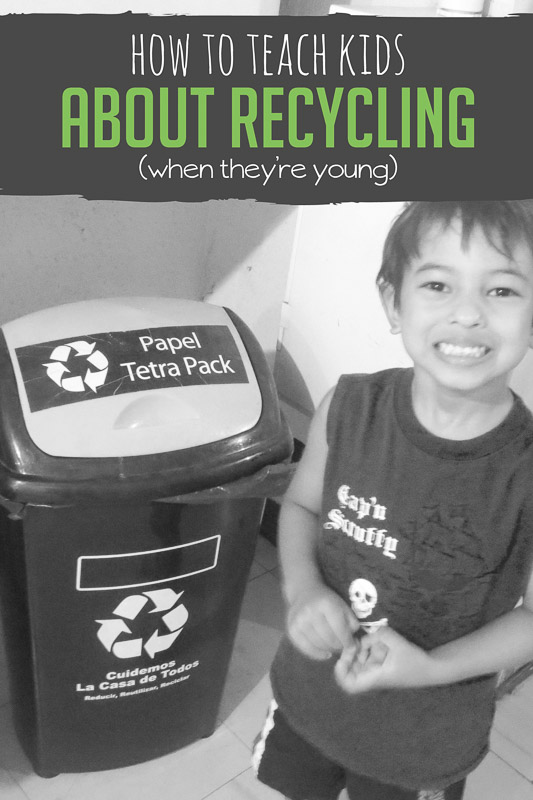 How to teach preschooler all about recycling and how to get them to help recycle