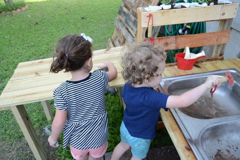 Your kids will love playing in their own mud kitchen