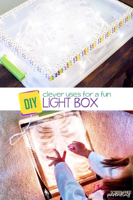 Have screen-free fun with a creative DIY lightbox that's super simple to make!