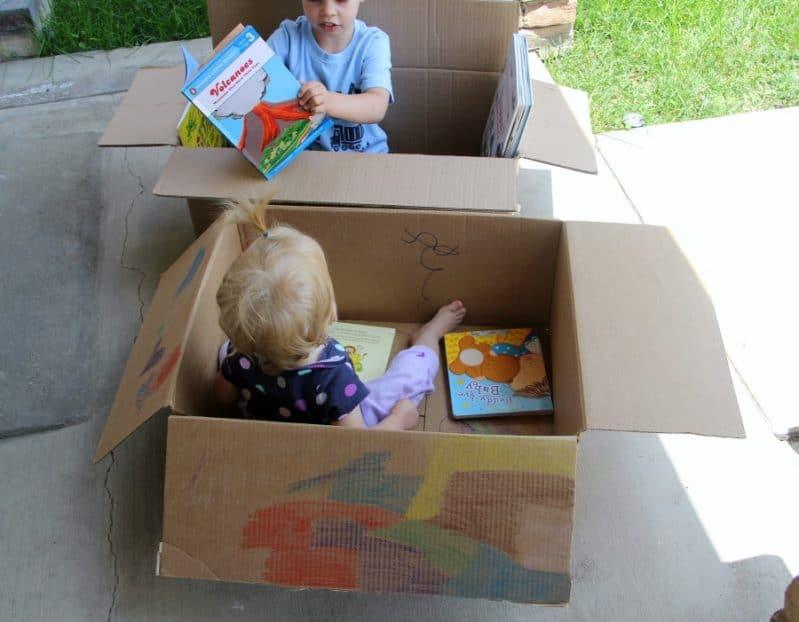 Decorating a cardboard box