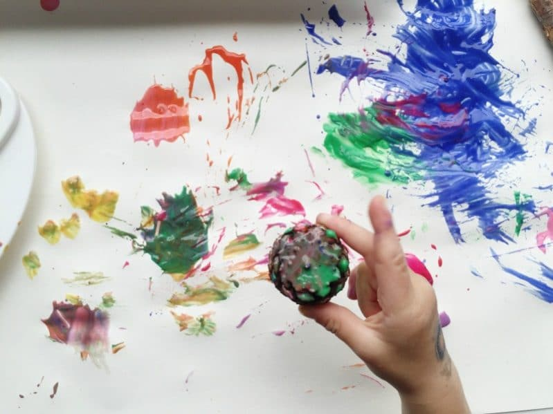 Nature painting is such a fun sensory experience for kids!