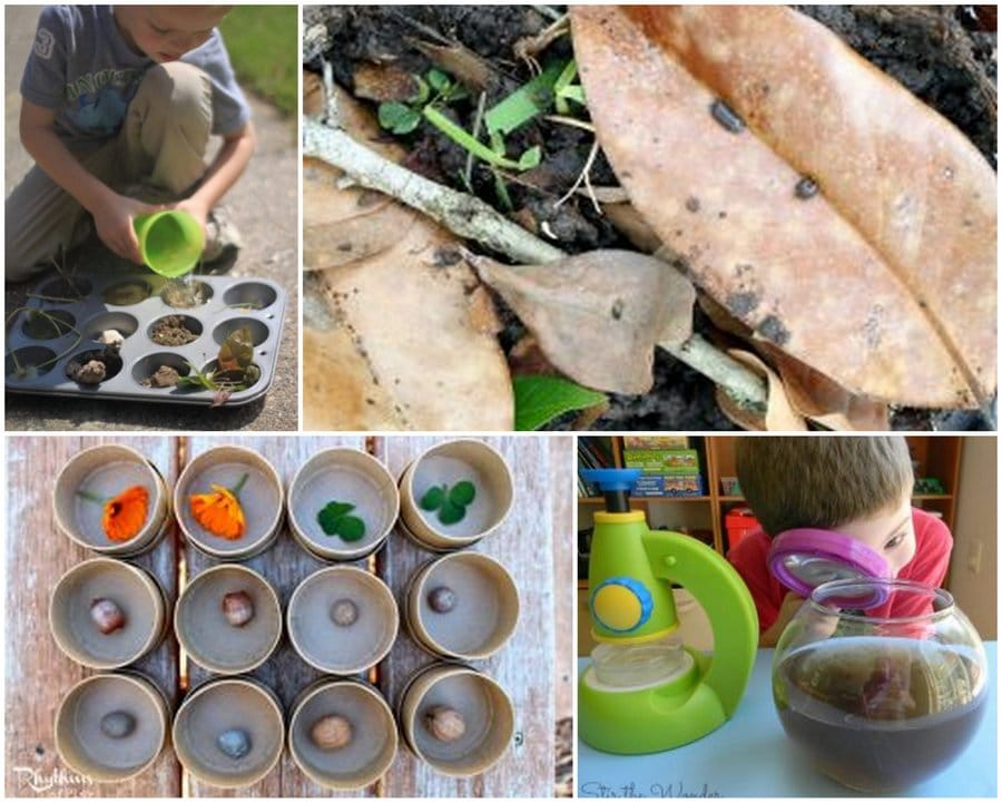 Science, Math, Arts & Crafts or just plain fun nature activities that will all help your kids love being outside at home or on the go.