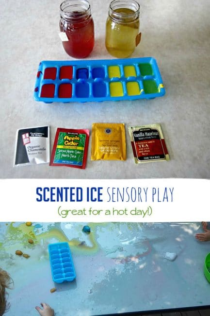 DIY scented ice for fun sensory play your kids will love!