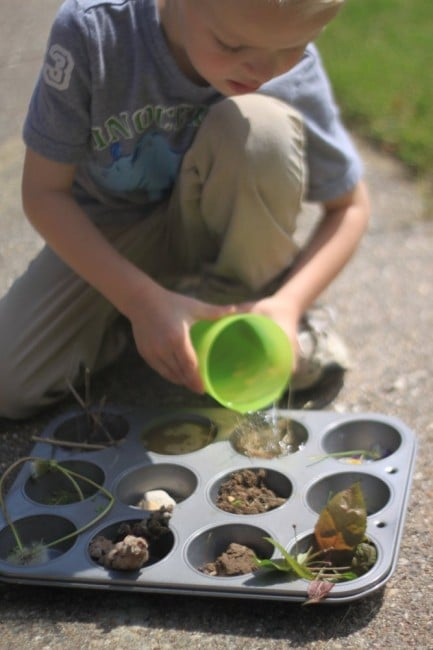 What absorbs water? and other fun nature activities for kids