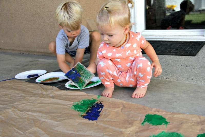 Painting Process for Preschoolers
