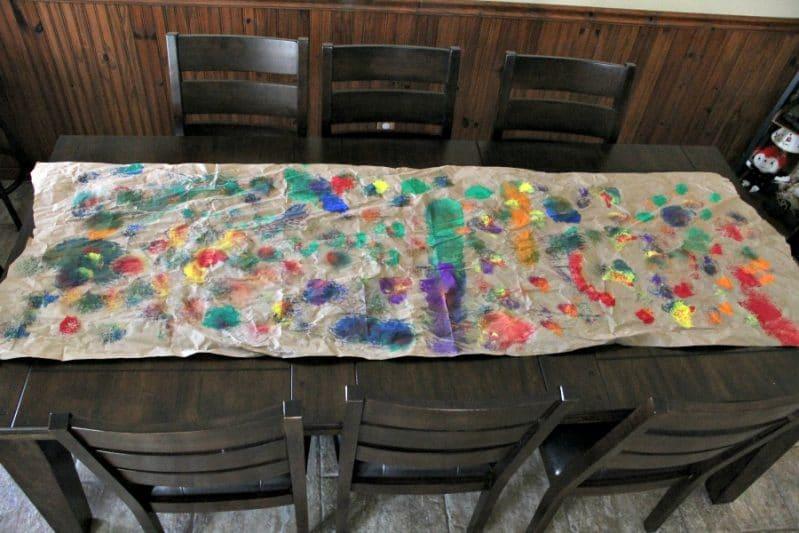 Big Art Table Runner for Preschoolers