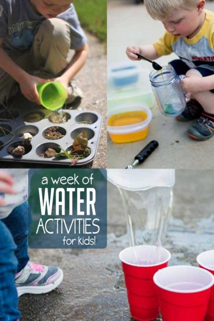 An easy week of water activities for kids to stay cool this summer!