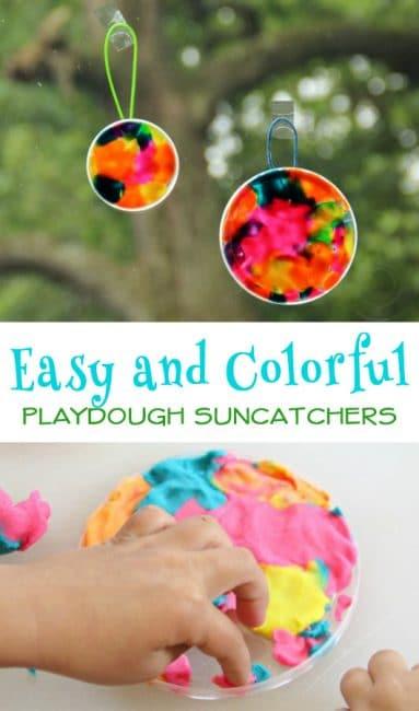 Easy Play Dough Suncatchers