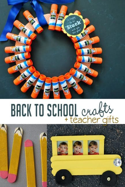 Check out these fun and easy back to school crafts for kids to make!