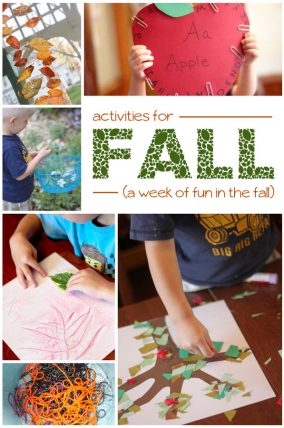 A week of fall activities to have fun with the kids