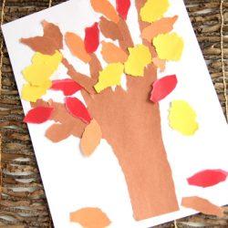 Torn Paper Fall Tree Craft