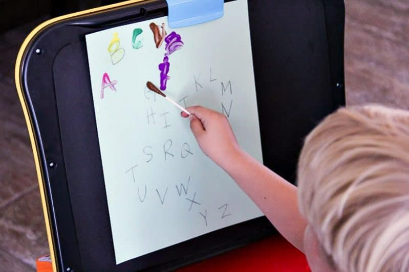 This quick-to-prep art activity helps your kids practice writing their alphabet by tracing letters