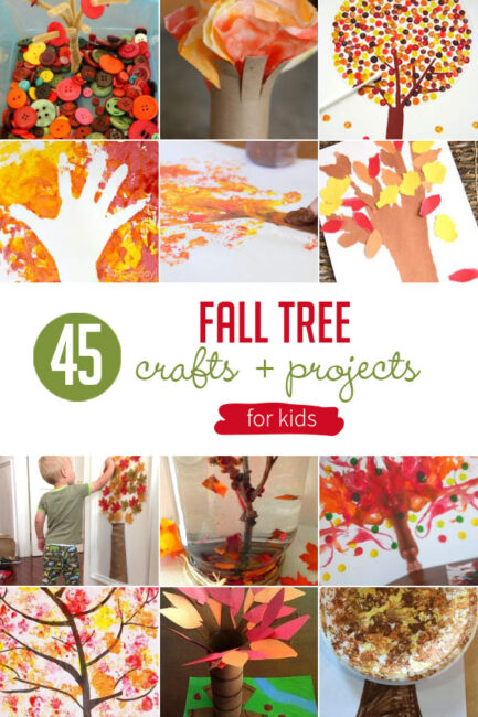 These fall tree crafts for kids to make are just as beautiful art pieces as the colorful trees outside! Get artsy with these fall trees.