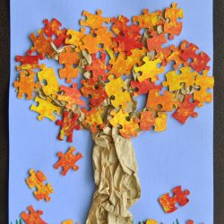 Fall Tree Puzzle Craft