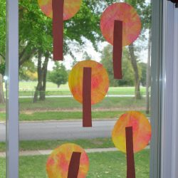 Coffee Filter Fall Trees