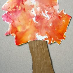Tissue Paper Art Fall Tree