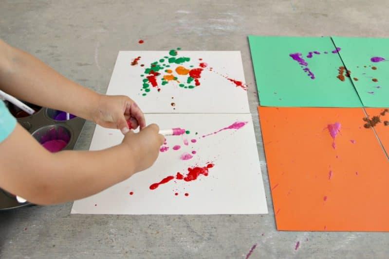 Syringe Painting, preschool art