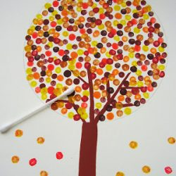 Fall Tree With A Special Paint Brush