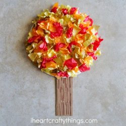 Tissue Paper Fall Tree Craft