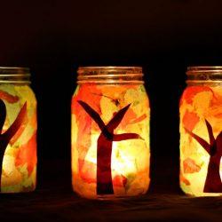 Mason Jar Fall Luminaries Craft