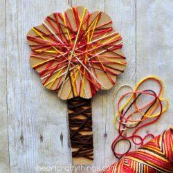 Yarn Wrapped Fall Tree