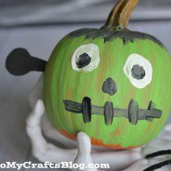 No Carve Frankenstein Pumpkin