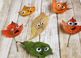 Kids of all ages will love making these leaf people as a great fall craft!