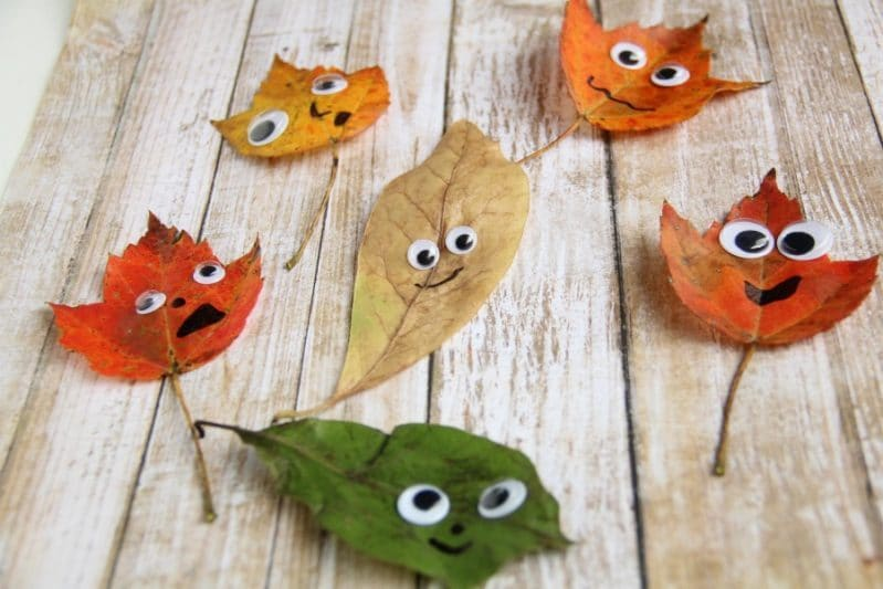 Kids of all ages will love making these leaf man people as a great fall craft!